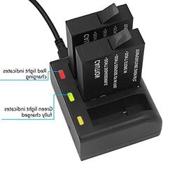 Gonine Replacement Gopro Fusion Battery and 3 USB Charger Ki