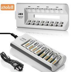 EBL 8 Slot Battery Charger For Ni-MH Ni-CD AA AAA Rechargeab