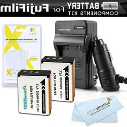 2 Pack Battery And Charger Kit For Fuji Fujifilm FinePix SL1