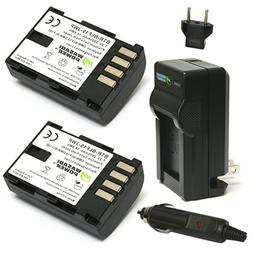 Wasabi Power Battery  and Charger for Panasonic DMW-BLF19 an