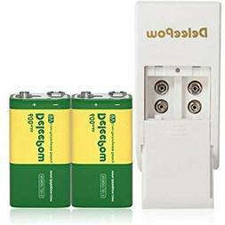 Battery Charger Set For 9v Battery, 2 Bay Lithium Volt 600mA