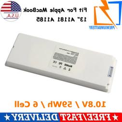 "Battery for Apple 13"" MacBook A1185 Li-ion 10.8V - 55 Wh Rec"