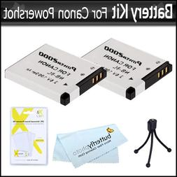 2 Pack Battery Kit For Canon PowerShot A3300 IS, A2200 IS, A