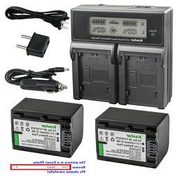 Kastar Battery LCD Dual Fast Charger for FH70 Sony HDR-CX105