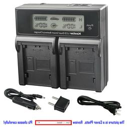 Kastar Battery LCD Dual Fast Charger for Sony DCR-DVD305 DCR