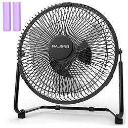 OPOLAR 9 Inch Battery Powered Rechargeable Desk Fan with 670