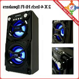 Big Bluetooth Speaker Loud Party Stereo System Led Portable