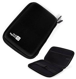 DURAGADGET Black Shell Hard EVA Cover Case with Dual Zips fo