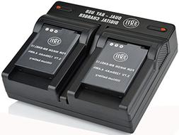 BM Premium 2 EN-EL12 Batteries & Dual Charger for Nikon KeyM