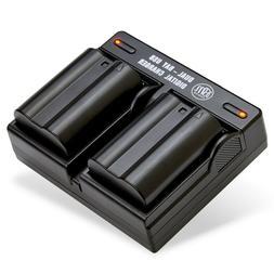 BM Premium Pack of 2 EN-EL15 Batteries and USB Dual Battery