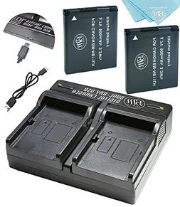 BM Premium 2 Pack Of NB-11L, NB-11LH Batteries and Dual Batt
