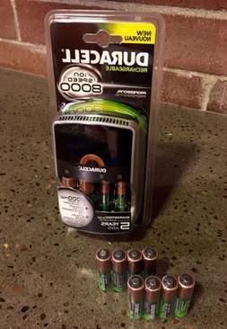 Duracell Bundle: ION Speed 8000 Charger W/ 10AA and 2AAA Rec