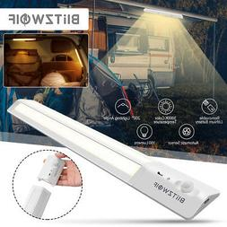 BW LED PIR Motion Sensor Recharge Battery Cabinet Light Clos