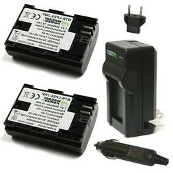 Wasabi Canon LP-E6, LP-E6N Battery 2-Pack & Charger