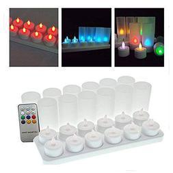 Winterworm Rechargeable Multi 7 Color Changing LED Tea Light