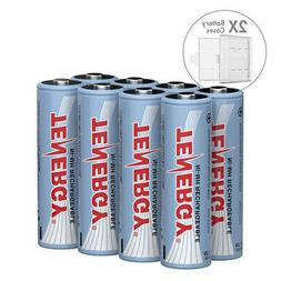 Combo: 8 pcs Tenergy AA 2600mAh NiMH Rechargeable Batteries