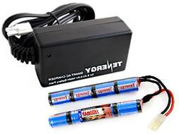 Tenergy Airsoft Battery 9.6 V 1600mAh NiMH Nunchuck Battery
