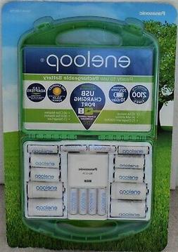 Complete Eneloop Rechargeable Battery Kit With Charger + AAA