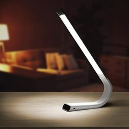 Luxe Cordless Eye Friendly LED Desk Lamp, USB Rechargeable,