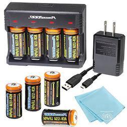 8 Pack of 1200mAh CR-123A LiFePO4 Lithium Rechargeable Batte