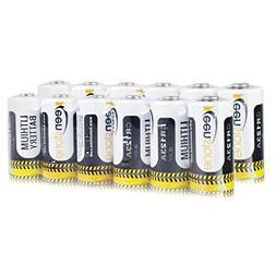 CR123A Lithium Batteries, Keenstone 12 Pcs 1600mAh Non-Rech
