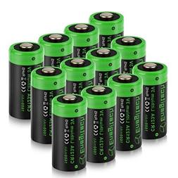 CR123A 3V Lithium Battery, Enegitech Upgrade 1600mAh 12Pack