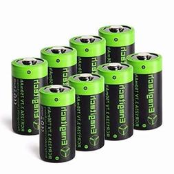 Arlo Batteries Rechargeable, Enegitech CR123A Lithium Batter