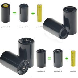 Custom C/D Size Battery Spacers for AA Rechargeable Ni-MH/NI
