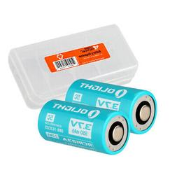 Olight Custom RCR123A Rechargeable Li-ion Batteries for S1R
