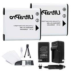D-LI92 Battery 2-Pack Bundle with Rapid Travel Charger and U