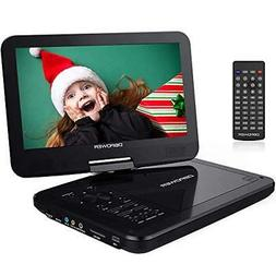 "DBPOWER 10.5"" Portable DVD Player with Rechargeable Battery"