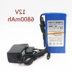DC12680 6800mAh 12V Super Rechargeable Li-ion Battery Pack f