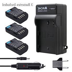 ARCHE DMW-BLF19 DMW-BLF19E DMW-BLF19PP <3 Pack> Battery and
