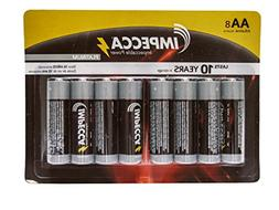 IMPECCA Double A Batteries  High Performance 1.5 Volt AA Alk