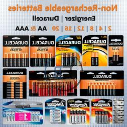 Non-Rechargeable AA AAA Batteries 2 4 8 12 pack lot Lithium