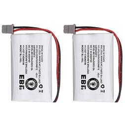 EBL 2 Pack BBTY0651101 cordless phone battery for Uniden BT1