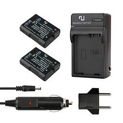 LP EN-EL14 EN EL14a Battery Charger Set, 2-Pack Battery & Ch