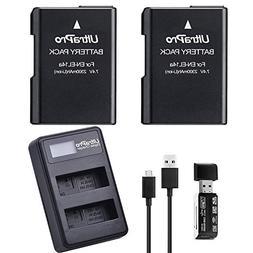 2-Pack EN-EL14 / EN-EL14A / EN-EL14A+ High-Capacity Replacem