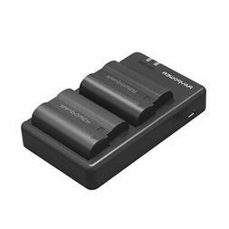 EN-EL15 EN EL15A RAVPower Battery Charger Set Rechargeable L