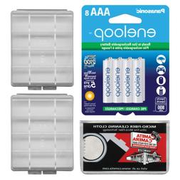 Panasonic eneloop 8 Pre-Charged AAA Rechargeable Batteries w