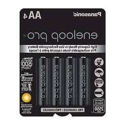 Panasonic Eneloop Pro AA NiMH Rechargeable Battery, 4 Pack #