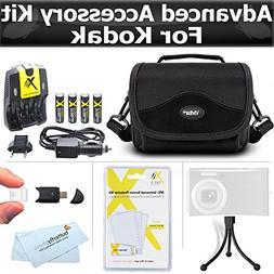 Essential Accessories Bundle Kit For Kodak EasyShare Max Z99