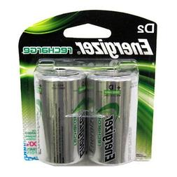 Energizer NH50BP2 NiMH Rechargeable Batteries, D, 2 Batterie