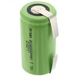 Exell 1.2V 5000mAh NiMH SubC Size Rechargeable Battery FAST