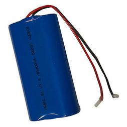 Exell 3.7V 4400mAh Li-Ion Battery Pack with 4in bare wire le