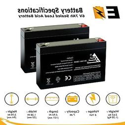 ExpertBattery 6V 7Ah SLA Battery Replacement for Toyo 3FM7 -
