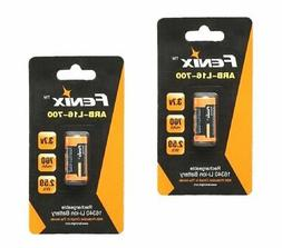 Fenix Flashlight 2-Pack Rechargeable Li-Ion 700mAh 16340 Bat