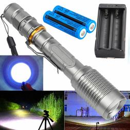 200000 Lumen Tactical 18650 Rechargeable T6 LED Flashlight T