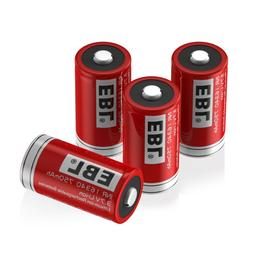 <font><b>EBL</b></font> 4Pcs CR123A 16340 <font><b>Battery</