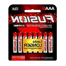 Fusion by Rayovac High-Power Alkaline Batteries, Size AAA, 8